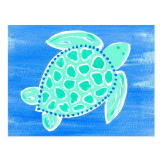 Carte Postale Tortue de mer de turquoise