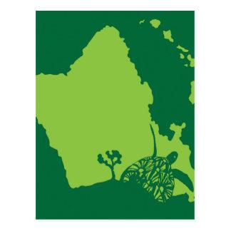 Carte Postale Tortue d'Hawaï de baie de Hanauma