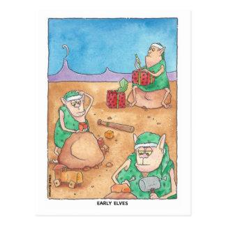 Carte postale tôt d'elfes