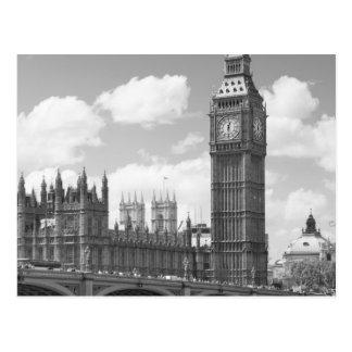 Carte Postale Tour d'horloge de Big Ben Londres