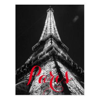 Carte Postale Tour Eiffel noir et blanc Paris France classique