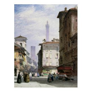 Carte Postale Tour penchée, Bologna