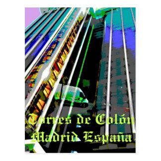 Carte Postale Tours de Columbus à Madrid Espagne