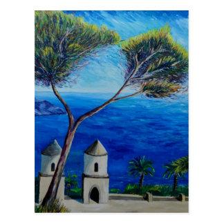 Carte Postale Tous bleus sur la côte d'Amalfi en Italie