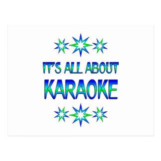 Carte Postale Tout au sujet du karaoke