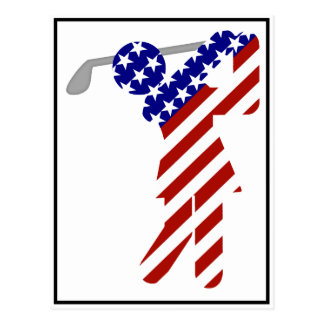 Carte Postale Tout le golfeur américain de femme