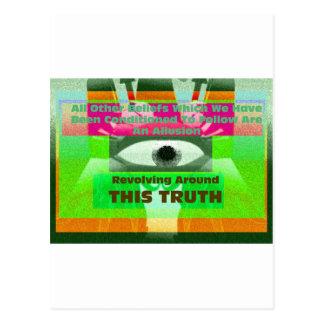 Carte Postale Toutes autres croyances sont une allusion