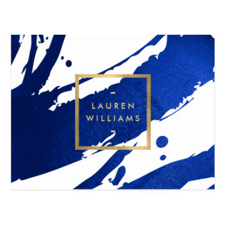 Carte Postale Traçages abstraits de bleu d'indigo