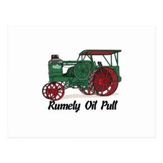 Carte Postale Tracteur de traction d'huile de Rumely