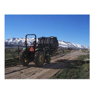 Carte Postale Tracteur sur le ranch