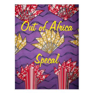 Carte postale traditionnelle spéciale africaine de