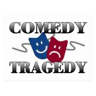 Carte Postale Tragédie de comédie
