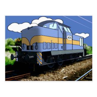 Carte Postale Train de bande dessinée
