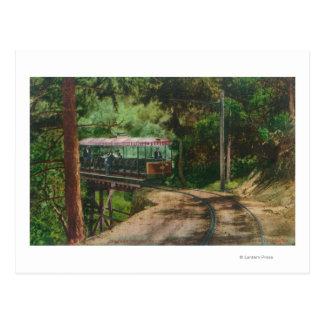 Carte Postale Train par CanyonMt en bois. Lowe, CA