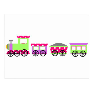 Carte Postale Train rose de Choo Choo de point de polka