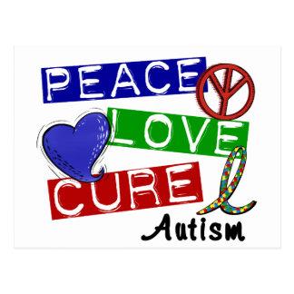 Carte Postale TRAITEMENT d'AMOUR de PAIX d'autisme