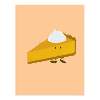 Carte Postale Tranche de sourire de tarte de citrouille