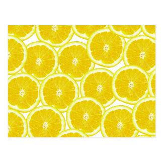 Carte Postale Tranches de citron d'agrume d'été