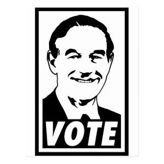 Carte Postale Transparent noir du vote 2012 de Ron Paul