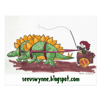 Carte Postale Transport de Stegosaurus