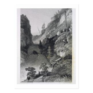 Carte Postale Transport en rivière de gelée, le 19 août 1833,