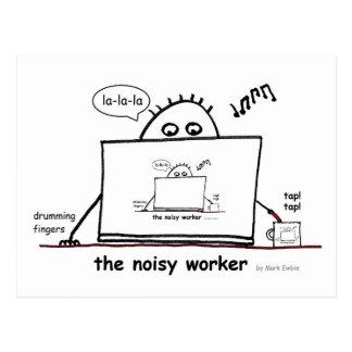 Carte Postale Travailleur bruyant