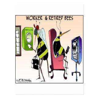 Carte Postale Travailleur et abeille retirée