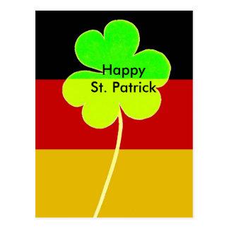 Carte Postale Trèfle allemand irlandais St Patrick de shamrock