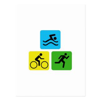 Carte Postale Triathlon