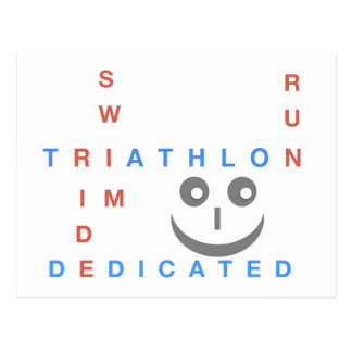 Carte Postale Triathlon je suis consacré