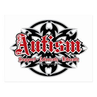 Carte Postale Tribal d'autisme