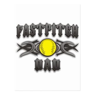 Carte Postale Tribal de papa du base-ball de Fastpitch