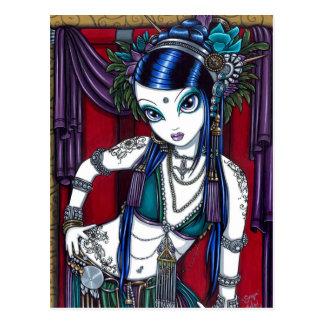 Carte postale tribale de danseuse du ventre de