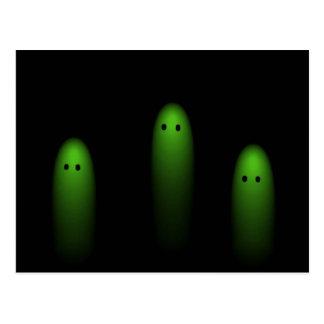 Carte Postale Trio des fantômes (vert)