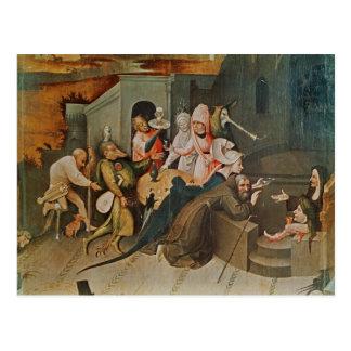 Carte Postale Triptyque de la tentation de St Anthony