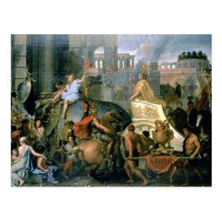 Carte Postale Triumph d'Alexandre, ou l'entrée d'Alexa