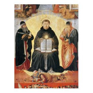 Carte Postale Triumph de St Thomas Aquinas