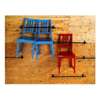 Carte Postale Trois chaises