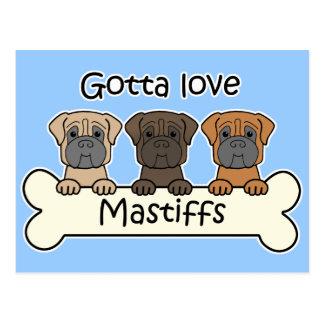 Carte Postale Trois mastiff