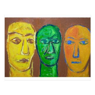 Carte Postale Trois sages (expressionisme de portrait)