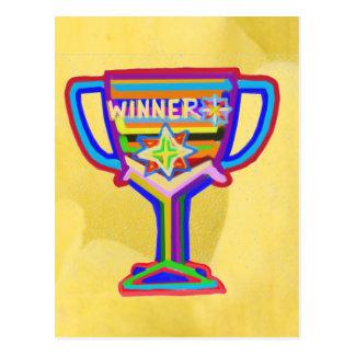 Carte Postale Trophée de gagnant :  Art acrylique