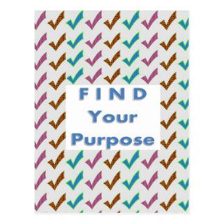 Carte Postale Trouvez votre BUT - mots de sagesse