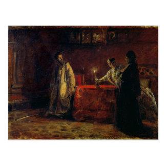 Carte Postale Tsar Boris Godunov et tsarine Martha, 1874