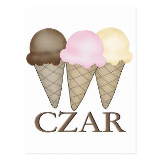 Carte Postale Tsar de crème glacée