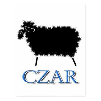 Carte Postale Tsar de moutons noirs