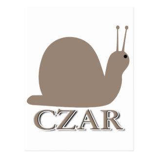 Carte Postale Tsar d'escargot