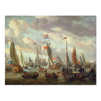 Carte Postale Tsar Peter I Angleterre de visite en janvier 1698