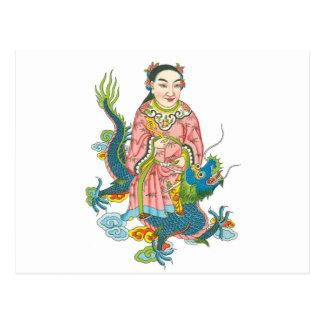 Carte Postale Tsing-sien. Dieu des puits