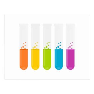 Carte Postale Tubes à essai de la Science de chimie