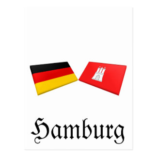 Carte Postale Tuiles de drapeau de Hambourg, Allemagne